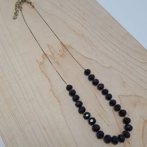 Aldo Long Black Bead Necklace
